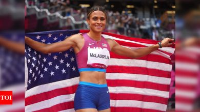 Tokyo Olympics 2020: Sydney McLaughlin smashes world record to win gold in 400m hurdles   Tokyo Olympics News - Times of India