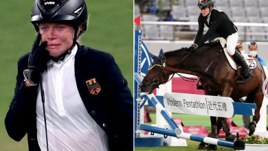 Top-ranked Olympic pentathlete bursts into tears when horse won't jump