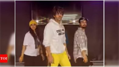 Watch: Kartik Aaryan gives a quirky twist to Madhuri Dixit's song 'Cook Cook' - Times of India