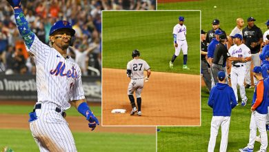 Benches clear in Yankees-Mets game after heated Stanton-Lindor exchange
