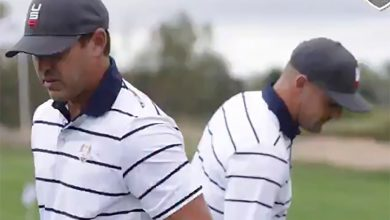 Brooks Koepka reacts to surprising new video with Bryson DeChambeau