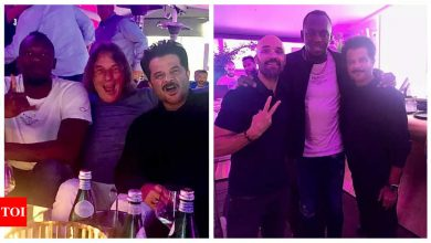 Anil Kapoor spends a 'legendary night' partying with Usain Bolt in Germany, see pics - Times of India