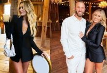 Dustin Johnson's model fiancee Paulina Gretzky stuns in plunging barely-there outfit