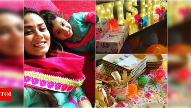 Inside pics! Mira Rajput shares glimpses of Misha's birthday decor and it is all things colourful - Times of India