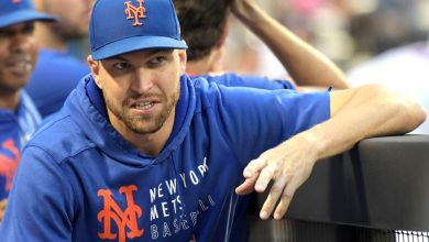 Mets' Jacob deGrom playing catch, no date on his return