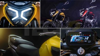 The new commuter from TVS will feature LED lighting and a full-colour instruments display. Image: TVS/Tech2
