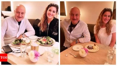 Nargis Fakhri shares pictures with co-star Anupam Kher in New York, calls it 'lunch with legend' - Times of India