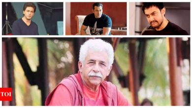 Naseeruddin Shah feels Shah Rukh Khan, Salman Khan and Aamir Khan avoid socio-political issues as they fear the harassment they face - Times of India