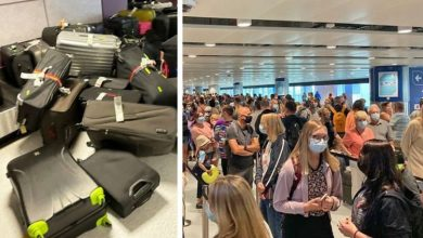 'Not good' Travel chaos as Manchester airport's conveyor belts overflow amid huge queues
