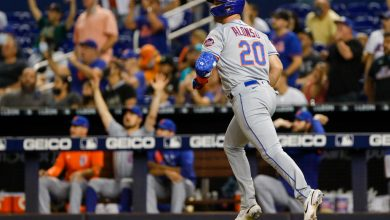 Pete Alonso's milestone homer helps Mets roll past sloppy Marlins