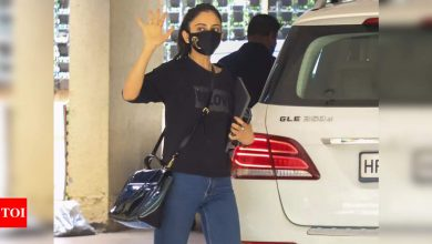 Rakul Preet Singh appears before the Enforcement Directorate in connection to a drugs case - Times of India