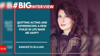Sangeeta Bijlani: Quitting acting and experiencing a new phase in life made me happy - #BigInterview! - Times of India
