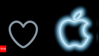 apple:  Twitter like button changes into neon Apple logo for tweets with #AppleEvent - Times of India