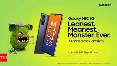 samsung:  Samsung Galaxy M52 5G to launch in India on September 28: Here are the 'new features' that it brings to M-series - Times of India